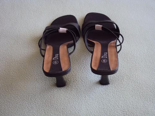 zapatos sandalias en cuero -diva