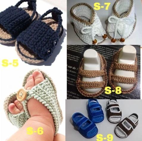 Tejidos Bebé Zapaticos 620 Zapatos Para Bs Escarpines Sandalias FngtUCZ