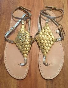 Piel Moda Sandalias 25 Doradas Fina Capri Zapatos Orig Italy BoWQdCrxe