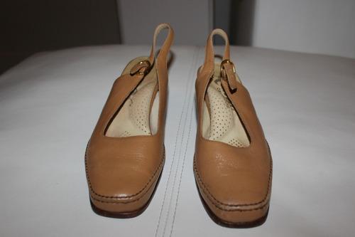 zapatos sandalias mujer cuero marrones talle 36 preciosas
