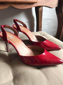 Pumps 37 Zapatos Sandalias Acharolados Rojos OkuPZXwiT