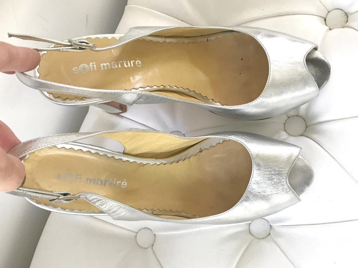 3f0870db8ba Zapatos Sandalias Plateadas 37 Sofi Martire Paruolo Sarkany ...