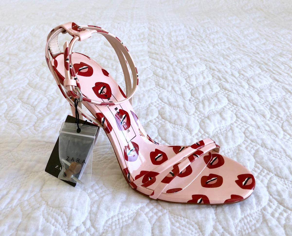 876340f39 Zara Estampadas Sandalias Zoom Con Taco Zapatos Importados Cargando F5UwOx