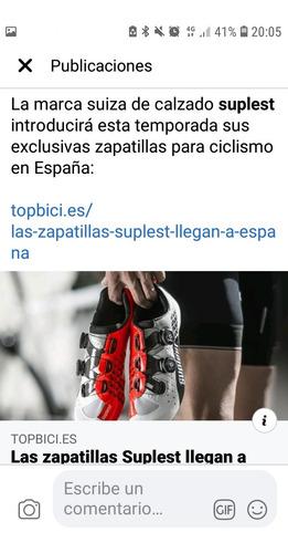 zapatos se ciclismo marca supplest aero tope de gama