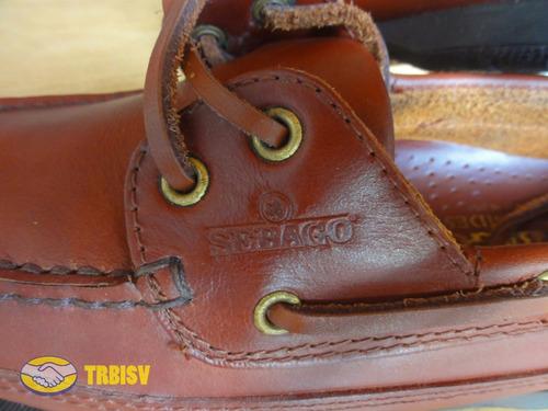 zapatos sebago docksides schooner marrones