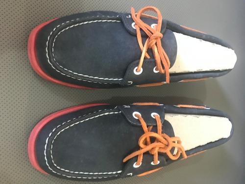 zapatos sebago nautico docksides, mocasín / apache nuevos