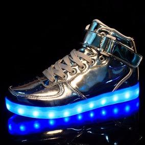 mejor servicio f161a e642f Zapatos Silver Botas Unisex Hombre Mujer Led Luces Luminosos