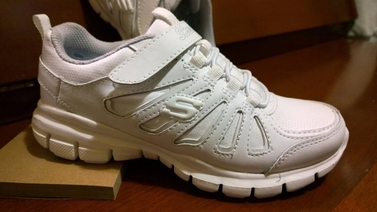 Deportivos Niñas 0 Blanco Skechers Para 28 Bs En Colegial Zapatos XFq71wq