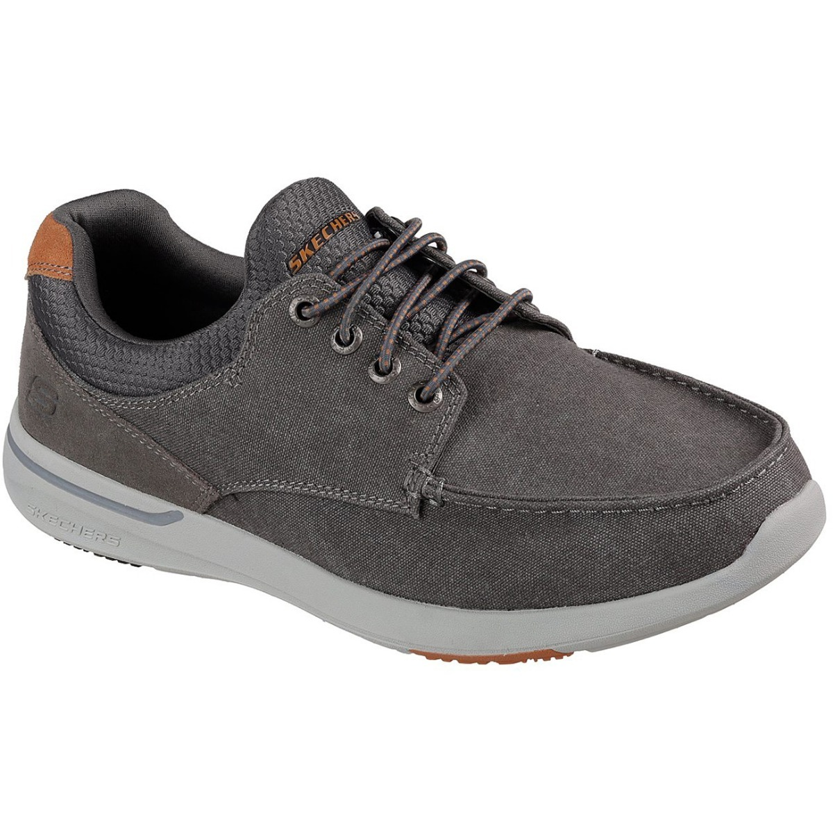 Memory Relaxed Foam Skechers Gris Elent Casual Fit Zapatos PSHq8w