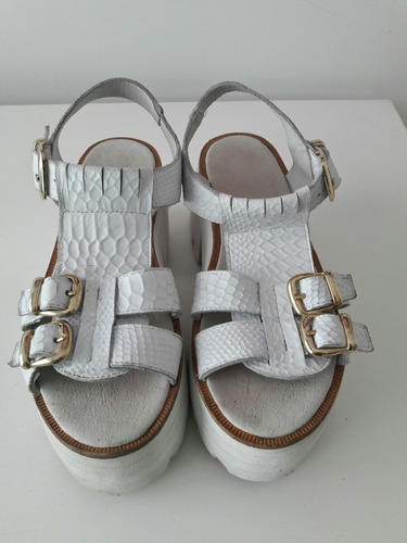 zapatos sofia de grecia blancos t 40