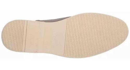 zapatos steve madden modelo niklas color gris de piel y lona