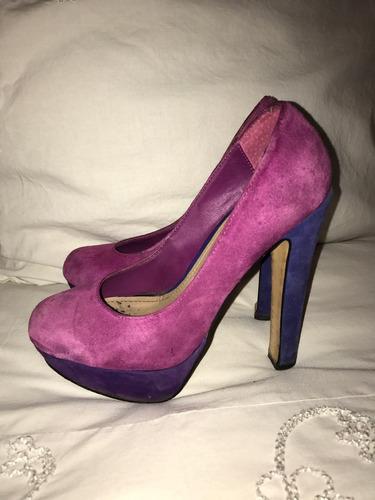 zapatos steve madden originales talla 6.5 morados y azules