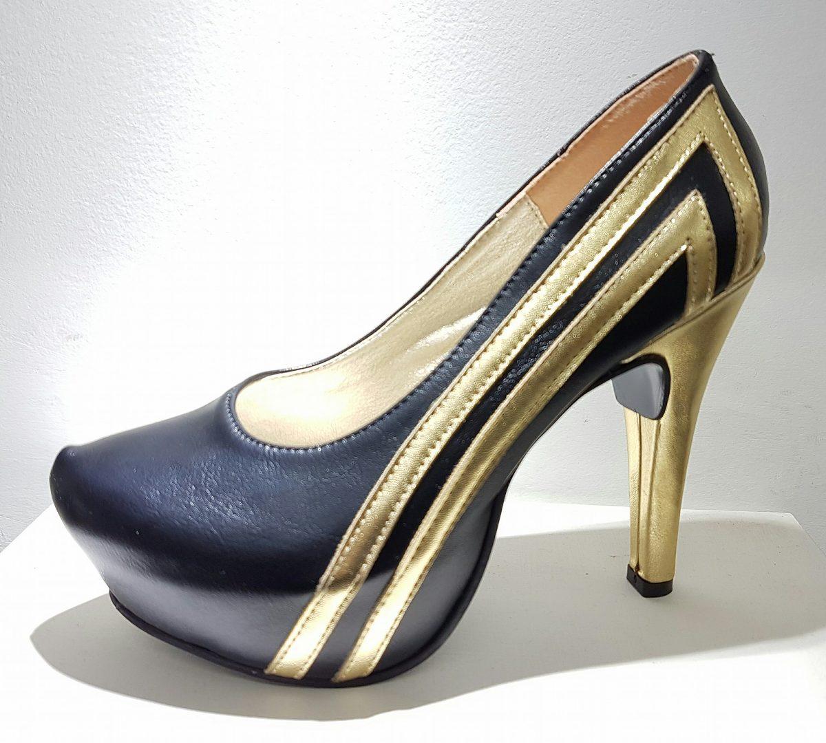De Mercado 00 Y Stiletto Zapatos 300 Negro En Oro 1 Fiesta 15vaqvxw 5aa7286c769f
