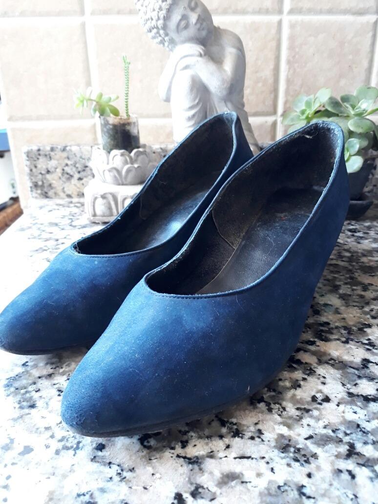bbed80d3a31 azules de 36 Cargando cómodos cuero zapatos stilettos zoom talle gamuza de  5q5RaT