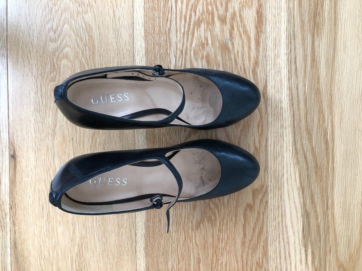 Guess 899 Alto 00 Taco Stilettos Marca Negros Formales Zapatos 6tfSFn