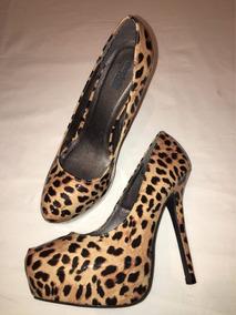 5d718214885 Zapatos Stilettos Leopardo Marca Charlotte Fusse Talle 40!