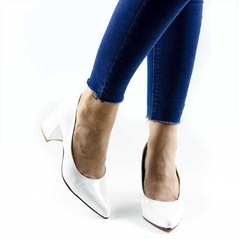 mejor sitio web 845a8 c8faf Zapatos Stilettos Mujer Taco Ancho Bajos Nuevos 2018