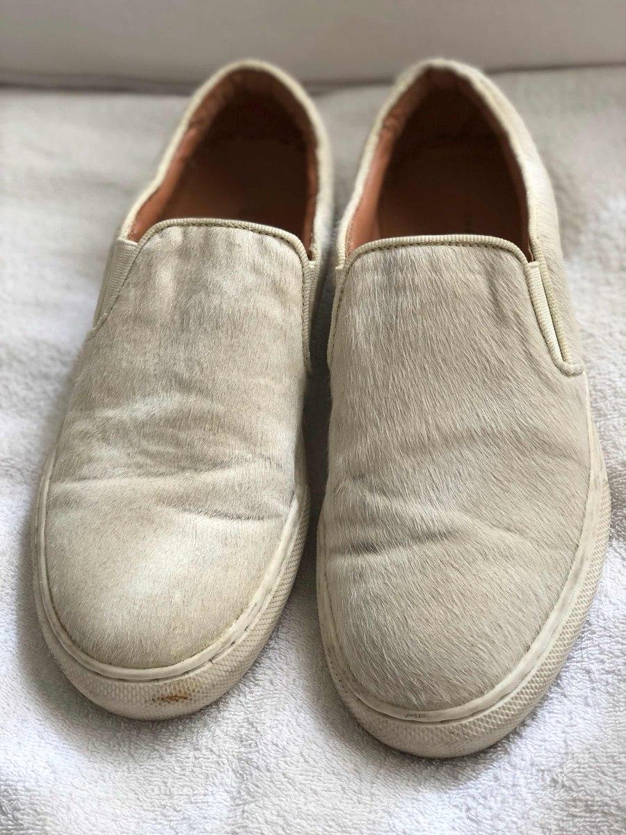 eea8f5e7 Zapatos Súper Cómodos De Piel Zara. Color Crema. - $ 700,00 en ...