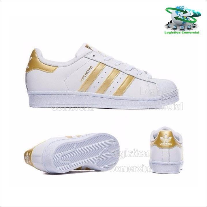 adidas superstar blanco con dorado