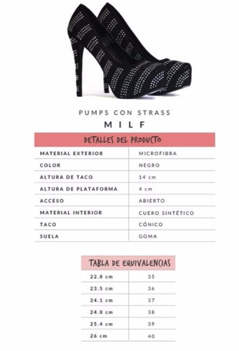 zapatos sweet pumps con strass milf