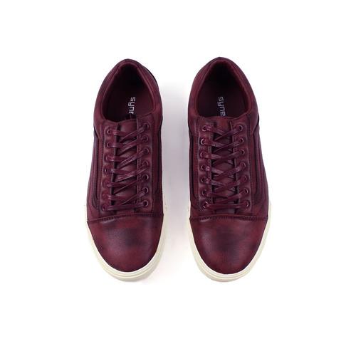 zapatos synergy old skool bipiel maroon 027-10ly-2