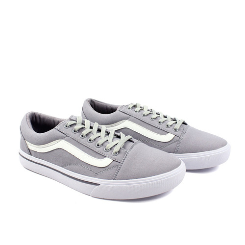 zapatos synergy old skool canvas gris 027-10ly-1