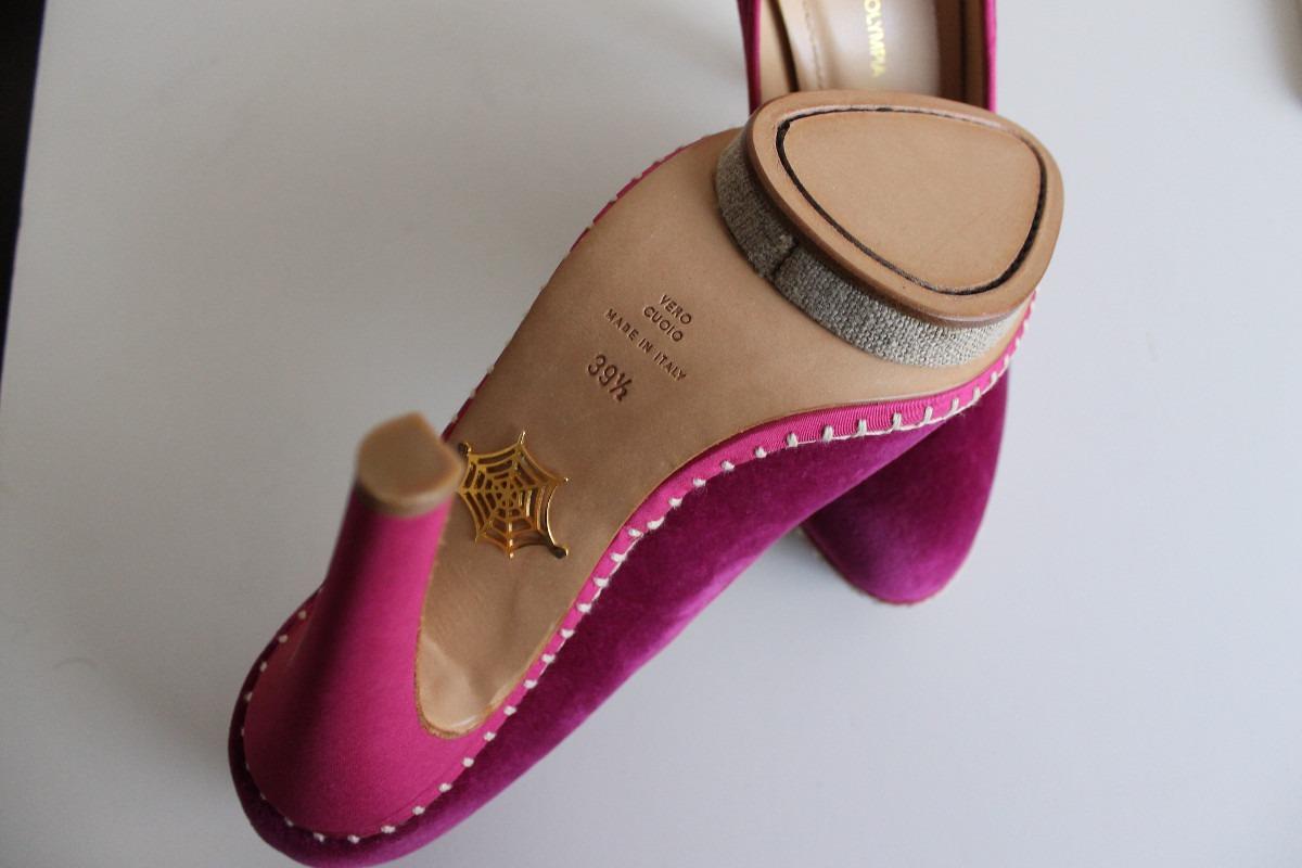 zapatos taco alto terciopelo cuero charlotte olympia eu 39.5. Cargando zoom. 4256afcf6766