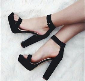 comprar baratas 89439 07c4e Zapatos Taco Cuadrado Stiletto Plataforma Mujer Talla 38
