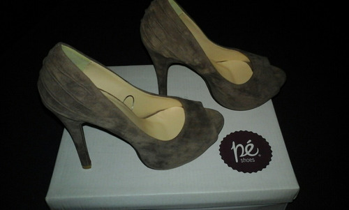 zapatos taco fiesta 35 un uso hermosos!