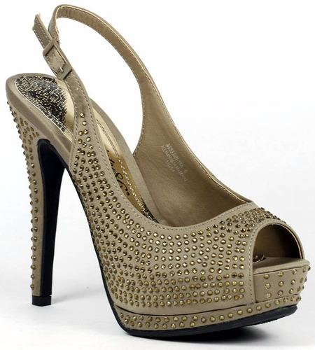 zapatos taco plataforma brillantes fiesta 5.5 35 36 37 stock