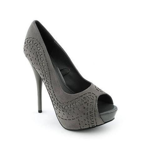 zapatos taco plataforma gris plomo fiesta 5.5 35 35.5 stock