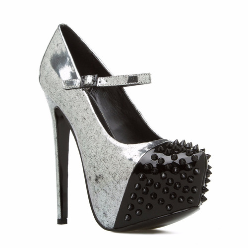 zapatos taco plataforma metalico 8 38 fiesta de usa stock