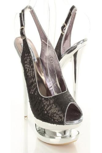 zapatos taco triple plataforma fiesta lentejuela 9 39 pedido