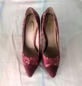 Qeos Zapatos Tacon Vino Marca Alto Damas Tinto Color uFcKl1J5T3