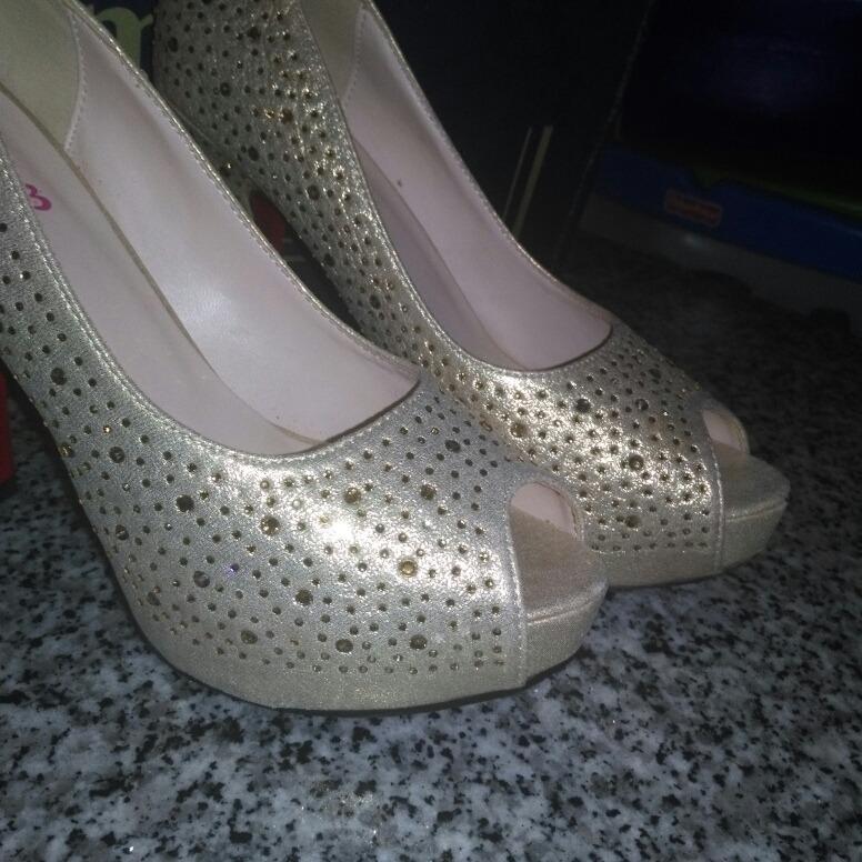 00 Brillantes Pasarela Talla Bs60 De Tacon Alto Zapatos 000 Dorados 37 0wnOkP