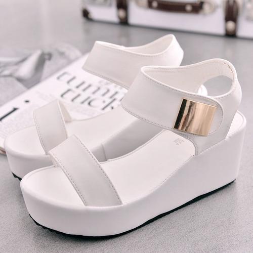 zapatos tacon alto wedge formal fiesta ocasion vestido sanda