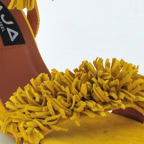 zapatos tacones amarillo mja