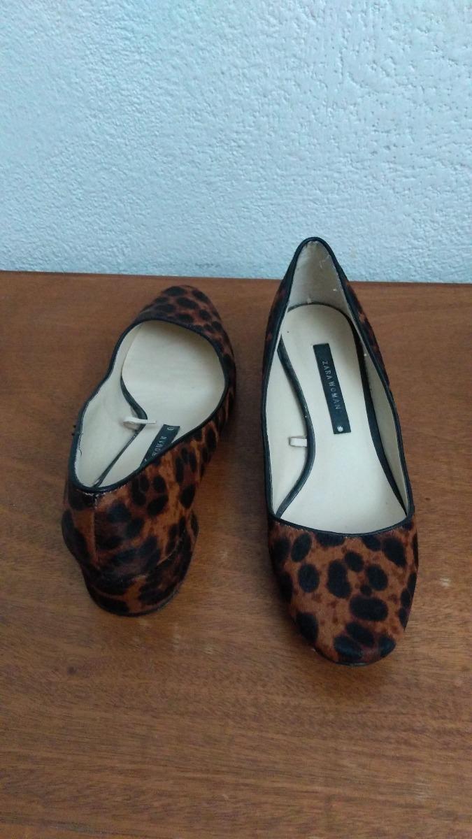 0b623af6 Zapatos Tacones Animal Print Zara 38eu Bazarqro - $ 499.00 en ...