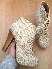 fdaa1dd7 Zapatillas Con Agujetas Mujer - Zapatos Beige en Mercado Libre México