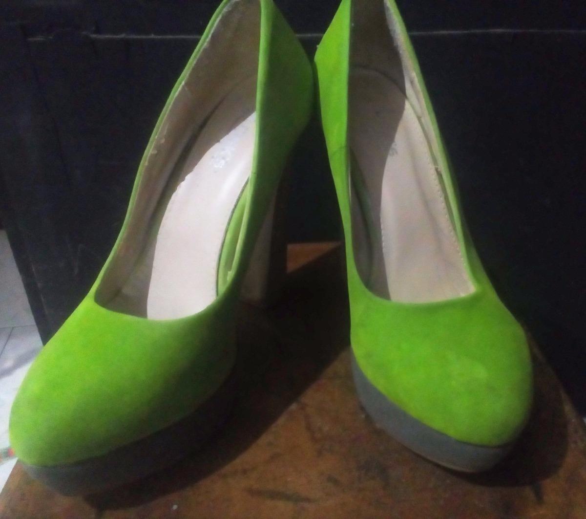 bastante agradable 36874 9d489 Zapatos Tacones Verdes 37 Plataforma - Bs. 15.000,00