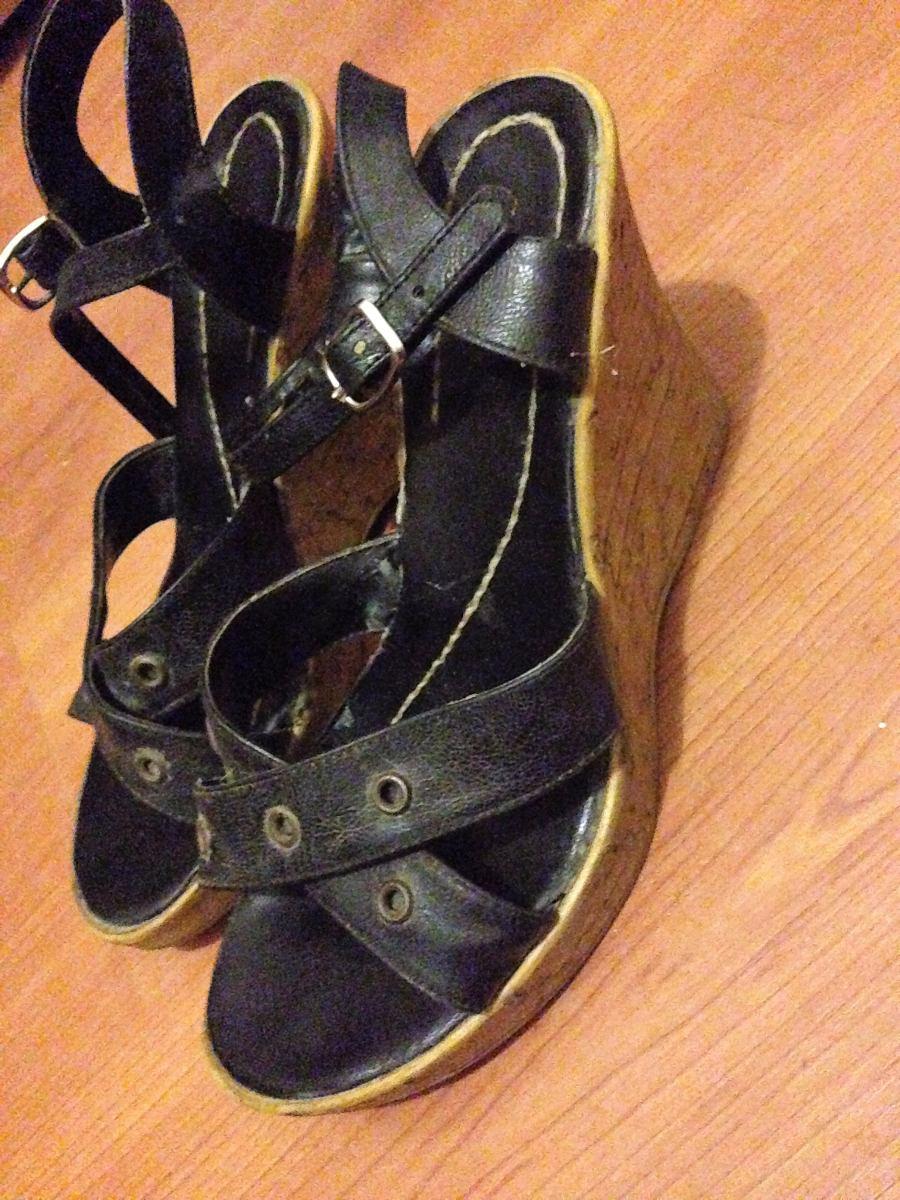 7216bf5e Sandalias Tacos Zapatos Madera Negros Mujer 130 Con Para Marron HTf5fqZwdx