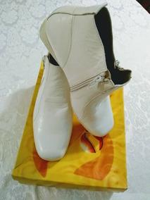 mirada detallada eaa71 920af Zapatos Talla 38 Dama Altos Blancos Tacon Santo 35
