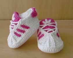 Zapatos Tejidos A Crochet Tipo adidas