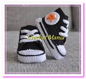 Zapatos Tejidos A Crochet Tipo Converse