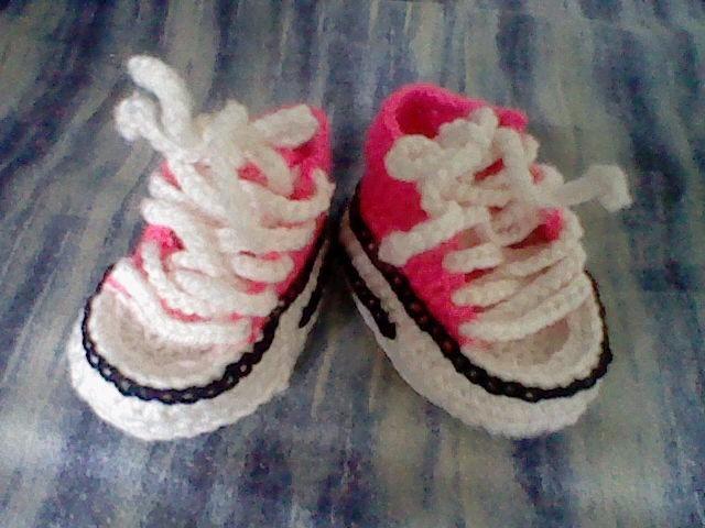 pretty nice d52d3 42183 Bebés Crochet Converse Zapatos Bs Tipo Mod Escarpines Tejidos Yxaqgvp
