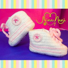 Zapatos Crochet Bebe Para Tejidos Escarpines 35ARL4jq