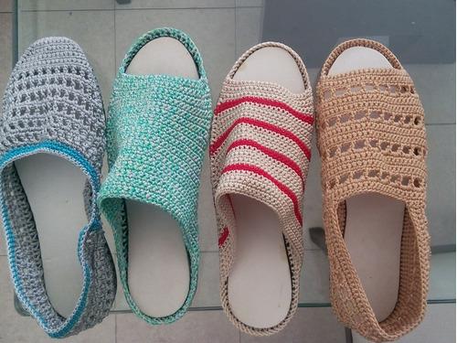 zapatos tejidos diferentes modelos y tallas
