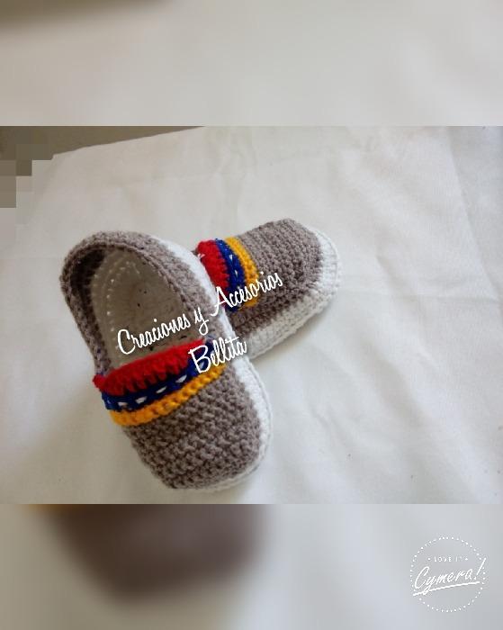 Zapatos Tejidos Para Bebe A Crochet - Bs. 1.890,00 en Mercado Libre