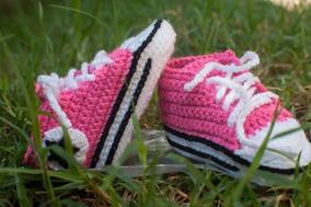 Zapatos Tejidos Para Bebe Crochet Converse