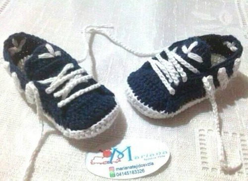 zapatos tejidos para bebés